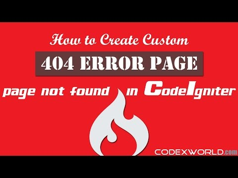 How to Create Custom 404 Error Page in CodeIgniter