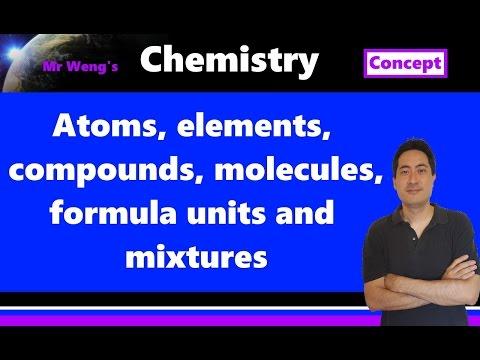 1.1 IB Chemistry terminology: Atoms, elements, compounds, molecules, formula units, mixtures