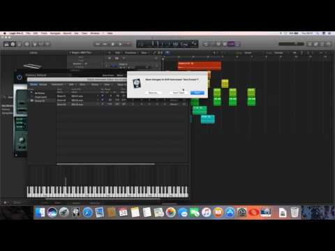 Setting up drum samples to create an EXS24 instrument in Logic Pro X