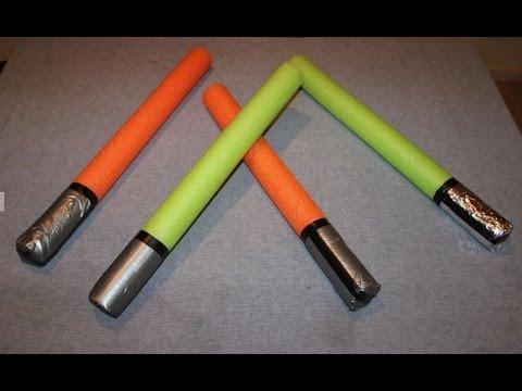 Easy DIY 'lightsaber' or sword for kids