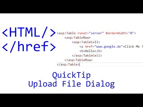 QuickTip #88 - HTML Tutorial - Upload File Dialog | JavaScript | jQuery