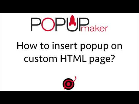 How to insert popup on custom Website HTML page?