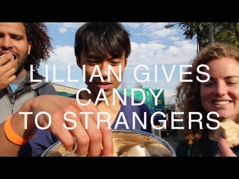 Lillian Gives Candy To Strangers