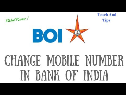 How To Change Mobile Number in Bank of India