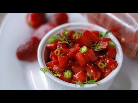 Mashed Strawberry | Strawberry Recipe | Strawberry Bhorta