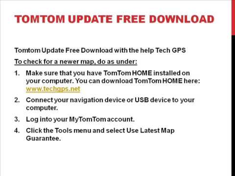 Get Free Tomtom Map Update Services with Tech GPS