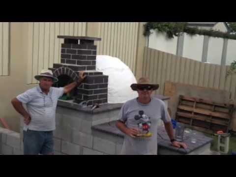 How to build an Abruzzese wood fired pizza oven