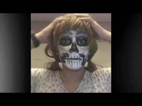 skull face tutorial using poster paint