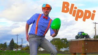 Blippi Learns Colors On A Egg Hunt | Educational Videos For Kids