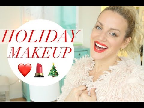 HOLIDAY MAKEUP | TRACY CAMPOLI | GRWM HOLIDAY EASY DRUGSTORE HOLIDAY MAKEUP