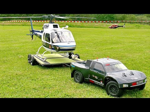 STUNNING AMAZING AS-350 ECUREUIL BIG SCALE RC ELECTRIC MODEL HELICOPTER FLIGHT DEMONSTRATION