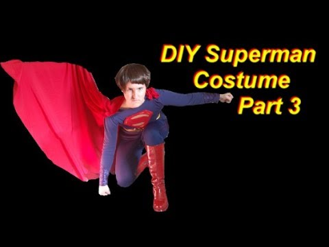 Superman Costume Tutorial Part 3: Boots and Cape