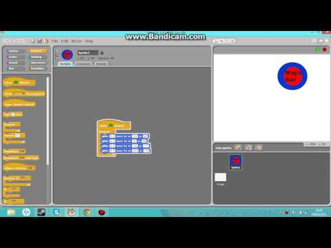 Scratch - creating a bouncing sprite