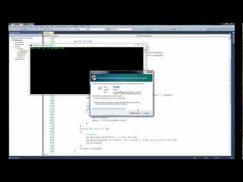 Tutorial 22.3 - Network Programming in C#, TcpListener