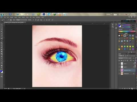 13.[PS] How To Change Someone's Eye Color In Adobe Photoshop CS5