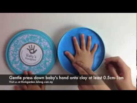 Baby Handprint Clay Kit Instruction Video by Think Garden