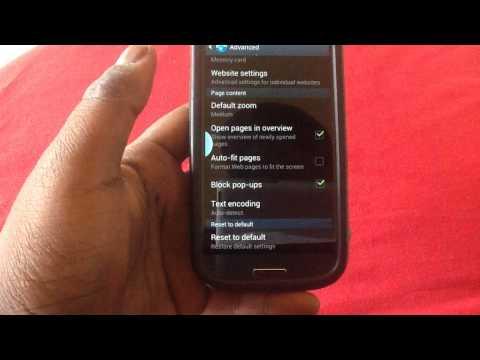 Disable Pop Up Blocker on Samsung Galaxy S3