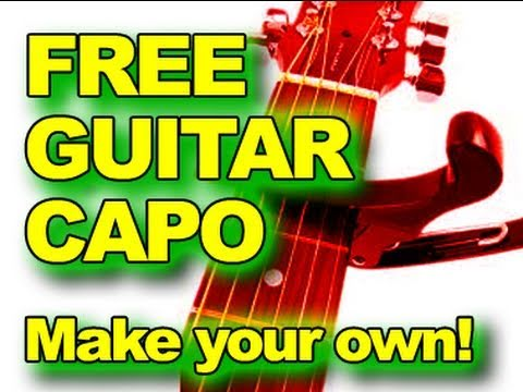 FREE Capo! How To Make Your Own - Acoustic Guitar Tips & Tricks