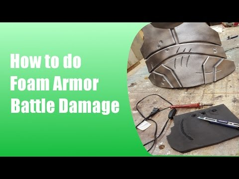 How to do Foam Armor Battle Damage: Bullet Holes and Cuts