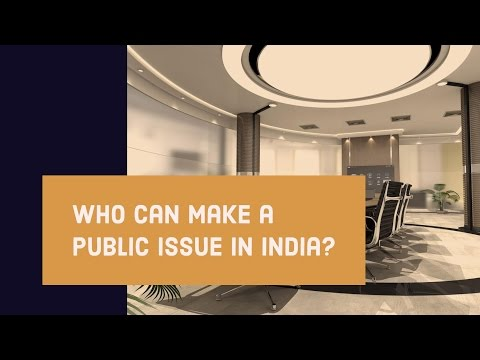 Who is eligible to make a public issue in India?