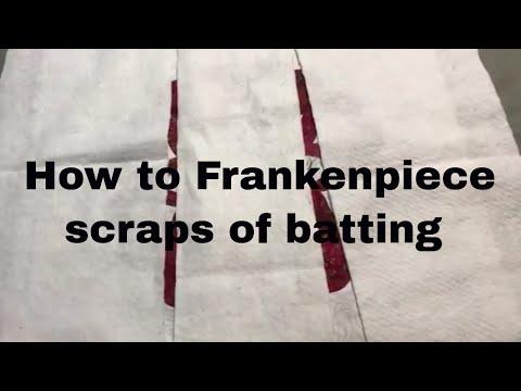 How I FrankenPiece batting scraps for my Hearts a Flutter Wall Hanging