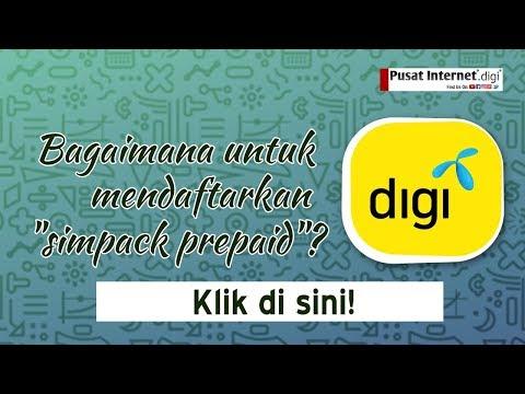 PI1M(Digi) Cara mendaftar 'Simpack' Digi Prepaid Live & Best
