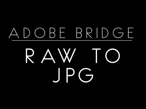 Raw to JPGs