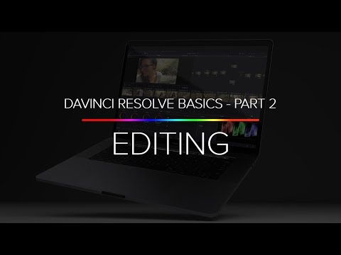 Learn Davinci Resolve 14 Basics - Part 2 (Editing, Cutting Clips, And Timelines)