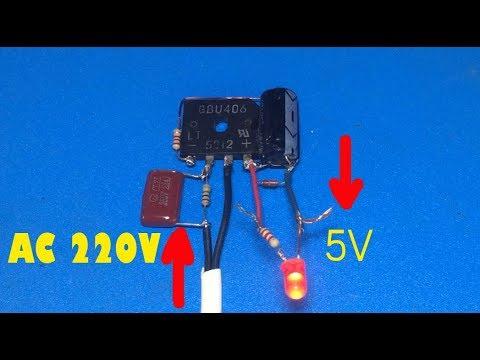 5V transformerless power suply