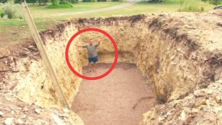 Guy Digs A Hole In His Backyard And Makes His Neighbors Insanely Jealous