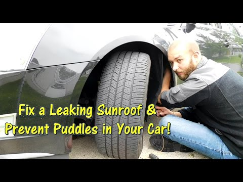How to Fix a Leaking Sunroof & Prevent Puddles in Your Car by @GettinJunkDone