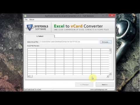 How to convert from Excel to Vcard or .vcf file [Narration]