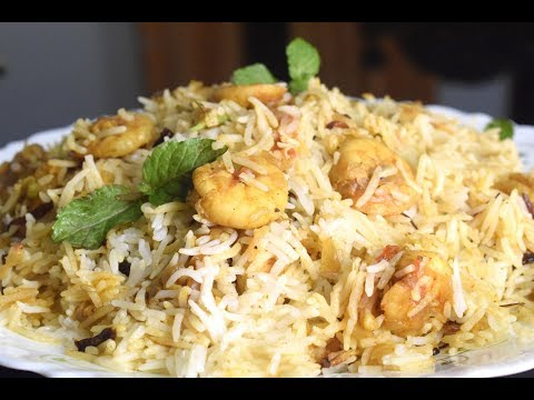 Prawns Biryani in Malayalam | Quick and Easy Shrimp Biryani | Prawn Biryani Restaurant style |