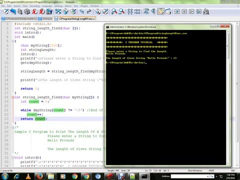 C PROGRAM TO FIND THE LENGTH OF THE STRING  WITHOUT  USING STRLEN