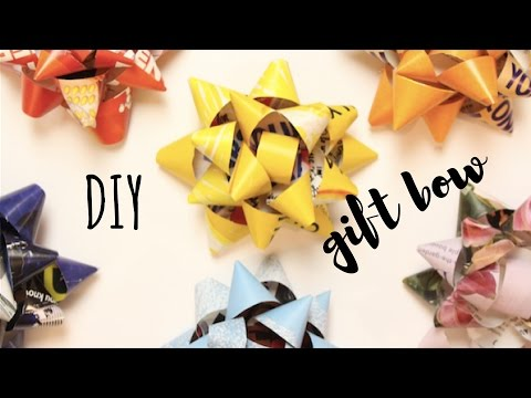 DIY Gift Bow | Recycled Magazine