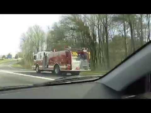 Gastonia N.C. Fire Engine Responding running code