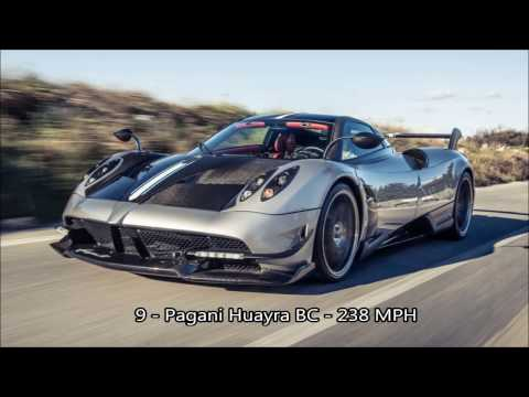 10 Fastest Cars In The World.  Exotic Cars, Sports Cars, Fancy Cars, Powerful Cars