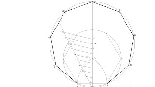 General Method For Drawing Any Regular Polygon Given The Measurement