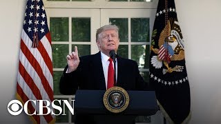 President Trump addresses weekend's deadly mass shootings, live stream | CBS News Special Report