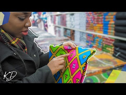 COME FABRIC SHOPPING WITH ME AT BRIXTON MARKET, LONDON | KIM DAVE