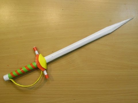 How to Make a paper Sword Rapier  ( Mini knife ) - Easy paper Knife Tutorials