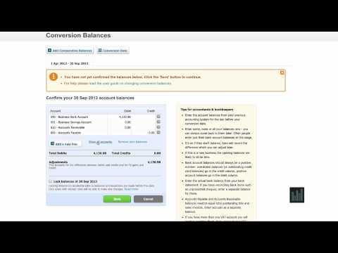 Xero Turtorial: Account Balance Setup - Episode 4