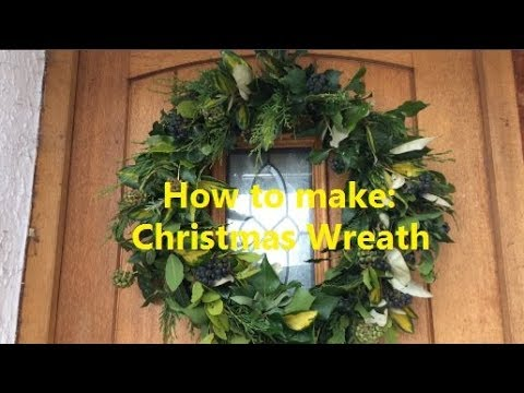 How to make a Christmas Wreath | Naturally fragrant door wreath