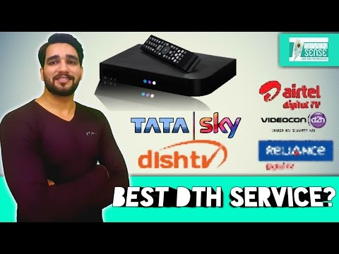 Which is best DTH company in India (TataSky, Disthtv, Airtel Digital Tv, Videocon D2H, Reliance) ✔