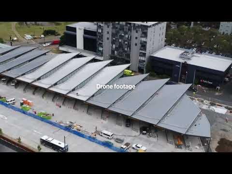 Manukau Bus Station Progress - February/March 2018
