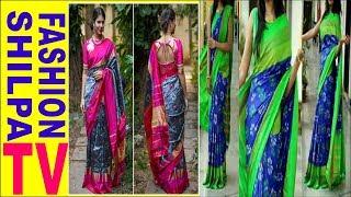 Unbox Of Pochampally Ikkat Pure Pattu Royal Blue Body And Pink Pallu And Boarder Saree Ikkat Silk