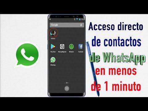 Como Crear Accesos Directos a Chats WhatsApp en menos de un minuto