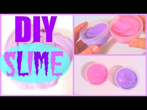 DIY SLIME WITHOUT BORAX OR LIQUID STARCH!