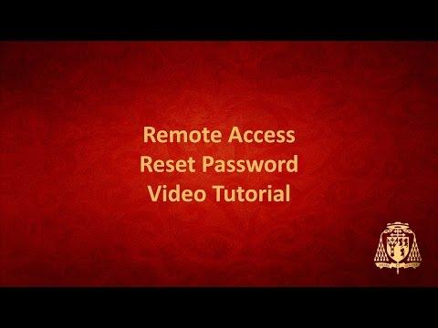Remote Access - Reset Password
