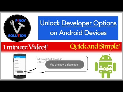 How to unlock Developer Options on Android Devices